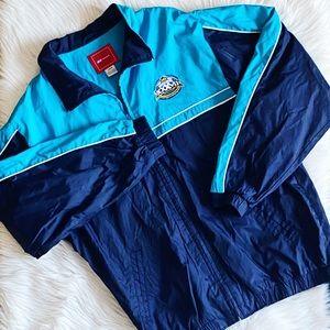 Reebok Windbreaker Jacket Blue Superbowl 37 Large